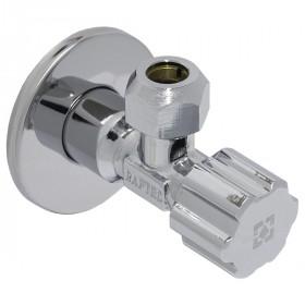 """Кутовий вентильний кран для підключення побутової техніки RAFTEC SILVER (1/2""""х3/8"""")  Ø10"""
